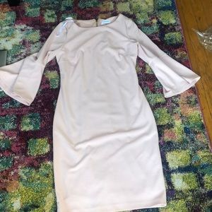 Pink long sleeved dress